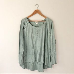Style & Co Mint Long Sleeve Top